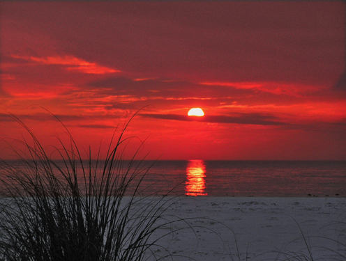 Anna Maria Island beach sunset